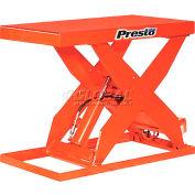 PrestoLifts™ HD Scissor Lift Table XL36-50H 48x24 Hand Operated 5000 Lb.