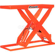 PrestoLifts™ HD Scissor Lift Table XL48-20 64x24 Foot Operated 2000 Lb.