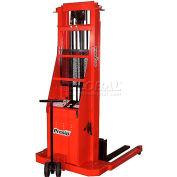 PrestoLifts™ Battery Power Lift Straddle Stacker PSA286 Adj. Legs 2000 Lb.