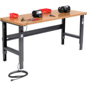 Global Industrial™ 72x36 Adjustable Height Workbench C-Channel Leg - Shop Top Square Edge Black