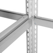 Global Industrial™ Expandable Starter Rack 72x36x84 3 Level Wood Deck 750 lb Cap Per Level GRY