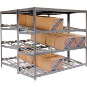 "Global Industrial™ Carton Flow Shelving Double Depth 5 LEVEL 96""W x 72""D x 84""H"