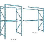 "Husky Rack & Wire Teardrop Pallet Rack Add-On With Wire Deck - 120""W x 42""D x 144""H"