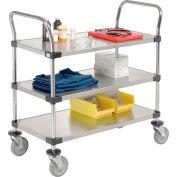 Nexel® Stainless Steel Utility Cart 3 Shelves 36x18