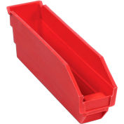 "Global Industrial™ Plastic Nesting Storage Shelf Bin 2-3/4""W x 11-5/8""D x 4""H Red - Pkg Qty 24"