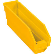 "Global Industrial™ Plastic Nesting Storage Shelf Bin 2-3/4""W x 11-5/8""D x 4""H Yellow - Pkg Qty 24"