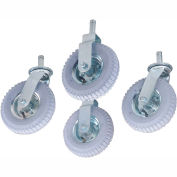 "Nexel® Stem Casters Set of (4) 8"" x 2.80"" Full Pneumatic 1000 Lb. Capacity"