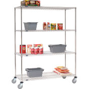 Nexel® Stainless Steel Wire Shelf Truck 48x18x69 1200 Lb. Capacity