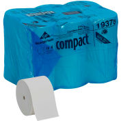 White Coreless High Capacity 2-Ply Toilet Paper, 1500 Sheet/Roll, 18 Rolls/Case - 19378