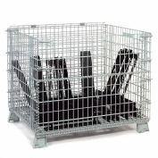 "Global Industrial™ Folding Wire Container 48""L x 40""W x 36-1/2""H 5000 Lb. Capacité"