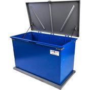 """TuffBoxx Grizzly Animal Resistant Storage Bin - 48"""" x 24"""" x 30"""" - Blue/Charcoal"""