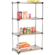 36x18x74 Stainless Steel Solid Shelving
