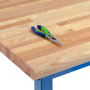 """60"""" W x 30"""" D x 1-3/4"""" Thick, Ash Safety Edge Workbench Top"""