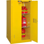 "Global Industrial™ Flammable Cabinet, Self Close Double Door, 60 Gallon, 34""Wx34""Dx65""H"