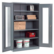 Global Industrial™ Clear View Storage Cabinet Easy Assembly 48x24x78 - Gris