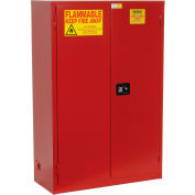 """Global Industrial™ Paint & Ink Storage Cabinet, Manual Close DBL Door 72 Gallon, 43""""Wx18""""Dx65""""H"""