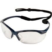 Vapor Safety Eyewear - Clear Anti-Fog, Metallic Blue