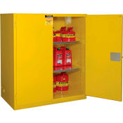 """Global Industrial™ Flammable Cabinet, Manual Close Double Door, 120 Gallon, 59""""Wx35""""Dx65""""H"""