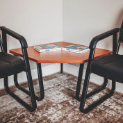 "Interion® Corner Coffee Table 30"" x 30"" Cherry Top"