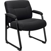 Interion® Big and Tall Waiting Room Chair - Fabric - High Back - Black