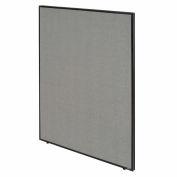 """Interion® Bureau cloison panneau, 48-1/4"""" W x 60"""" H, gris"""