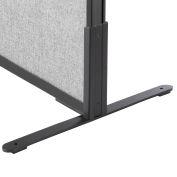 """Interion® 8""""H T-Leg Bracket for Office Partition Panels, Black (1 Paire)"""