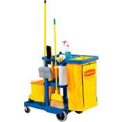 Rubbermaid® concierge Cart bleu avec sac en vinyle Gallon 25 6173-88