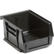 "Global Industrial™ Plastic Stack & Hang Bin, 4-1/8""W x 5-3/8""D x 3""H, Black - Pkg Qty 24"