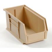 "Global Industrial™ Plastic Stack & Hang Bin, 5-1/2""W x 10-7/8""D x 5""H, Beige - Pkg Qty 12"