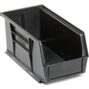 Global Industrial™ Plastic Stack and Hang Parts Storage Bin 5-1/2 x 10-7/8 x 5, Black - Pkg Qty 12