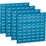 Global Industrial™ Panneau mur louvered sans bacs 18x19 Bleu, qté par paquet : 4