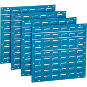 Global Industrial™ Louvered Wall Panel Without Bins 18x19 Blue - Pkg Qty 4