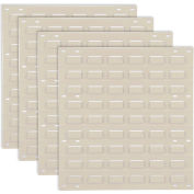 Global Industrial™ Panneau mur louvered sans bacs 18x19 Tan, qté par paquet : 4