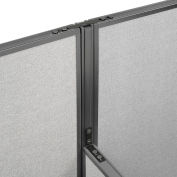 "Interion® High Low Three Way Kit For Two 64"" High Panel"