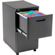 Interion® 2 Drawer Pedestal File/File - Black