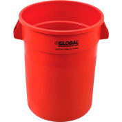 Global Industrial™ Plastic Trash Can - 32 Gallon Rouge