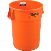 Global Industrial™ Plastic Trash Can - 44 Gallon Orange vif