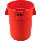 Global Industrial™ Plastic Trash Can - 44 Gallon Red