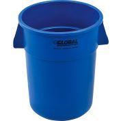 Global Industrial™ Plastic Trash Can - 55 Gallon Blue
