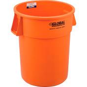 Global Industrial™ Plastic Trash Can - 55 Gallon Bright Orange