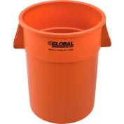 Global Industrial™ Plastic Trash Can - 55 Gallon Orange