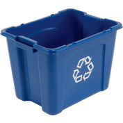 Rubbermaid Recycling Box - 14 Gallon Blue