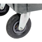 """Global Industrial™ Replacement 8"""" Pneu.Caster Kit for Plastic Service Carts, 2 Swivel, 2 Rigid"""