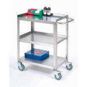 "Global Industrial™ Stainless Steel Utility Cart 24""L x 16-1/4""W x 33""H 400 Lb. Cap."