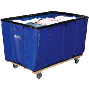 Global Industrial™ Basket Bulk Truck, Vinyl, 12 Bushel Capacity, Blue