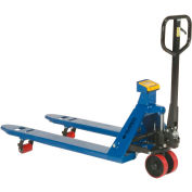 Global Industrial™ Pallet Jack Scale Truck with Weight Indicator 5500 Lb. Cap. 27 x 48 fourches