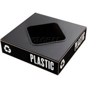 Safco® Public Square® Plastic/Waste Square Opening Lid - 2989BL
