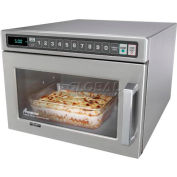 Amana® HDC12A2, Commercial Microwave, 0.6 Cu. Ft., 1200 Watts, Push Buttons