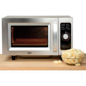 Nexel® Commercial Microwave Oven, 0.9 Cu. Ft., 1000 Watts, Dial Control, Stainless Steel