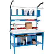 """Global Industrial™ Complete Packing Workbench, ESD Safety Edge, 72""""W x 36""""D"""